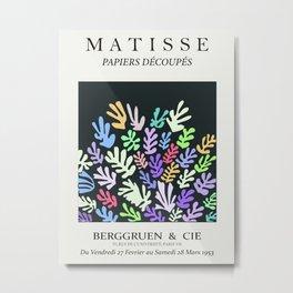 Henri matisse la gerbe coral pastel chalky cutout art, serene nights art print Metal Print