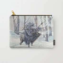 Wizard Riding an Elk in the Snow Carry-All Pouch