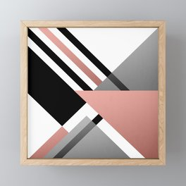 Sophisticated Ambiance - Silver & Rose Gold Framed Mini Art Print