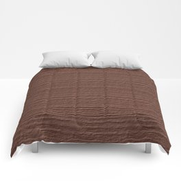 Cognac Wood Grain Texture Color Accent Comforters