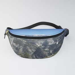 Half Dome and Waterfalls from Glacier Point in Yosemite Valley National Park Fanny Pack