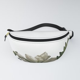 Lovely green cactus - cacti in white pots on a white background Fanny Pack