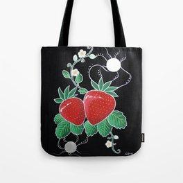 Moonlit Strawberries Tote Bag