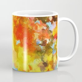 Abstract Painting with Vivid Colours Coffee Mug