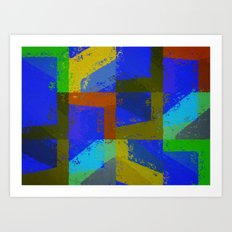 Colorful Truth. Blue. Art Print