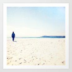 Beach & Blue Art Print