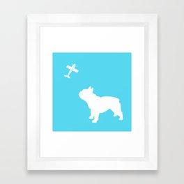 French Bull dog art Framed Art Print