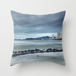 Morning Skyline Nha Trang Vietnam Throw Pillow