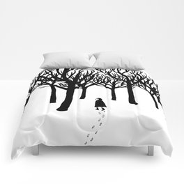 A Tangle of Trees Comforters