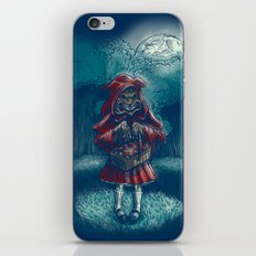 Big Bad Little Red Riding Wolf Hood iPhone & iPod Skin