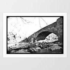 Burnt Bridge Art Print