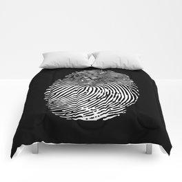 Black & White Fingerprint Comforters