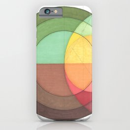 Concentric Circles Forming Equal Areas iPhone Case