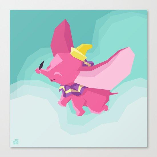 The Flying Elephant Canvas Print
