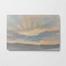 Sunset by Eugène Delacroix ca.1850, French Metal Print