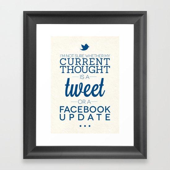 Social Media Framed Art Print