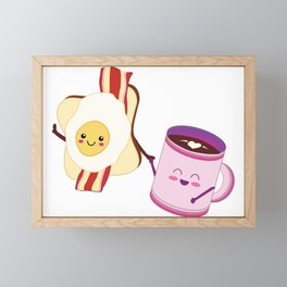 BFF Fun Eggs & Coffee with Bacon & Toast Framed Mini Art Print