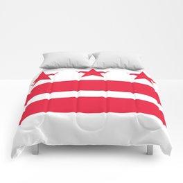 Washington D.C Flag, High Quality image Comforters
