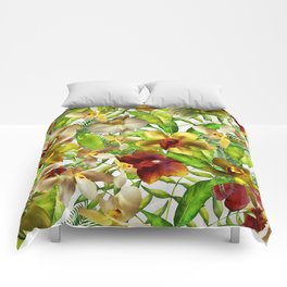 My tropical Orchid Garden- Jungle Pattern Comforters