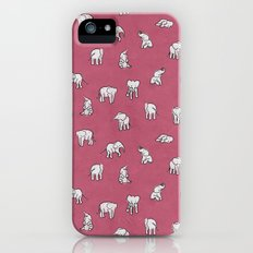 Indian Baby Elephants in Pink Slim Case iPhone (5, 5s)