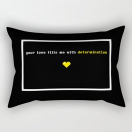 Your love fills me with determination Undertale Rectangular Pillow