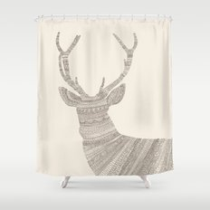 Stag / Deer (On Beige) Shower Curtain