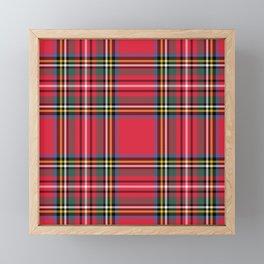 Red & Green Tartan Pattern Framed Mini Art Print