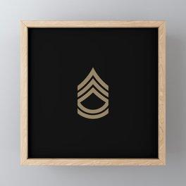 Sergeant First Class (Brown) Framed Mini Art Print