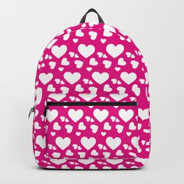 Pink and White Hearts Seamless Pattern 108 Backpack