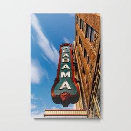 Alabama Marquee Metal Print