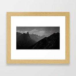 Stormy Banff Mountains Framed Art Print