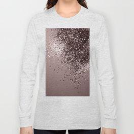 Sparkling Mauve Lady Glitter #1 #shiny #decor #art #society6 Long Sleeve T-shirt