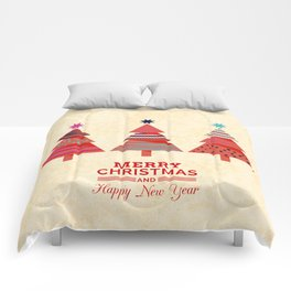 Three Christmas Trees Comforters