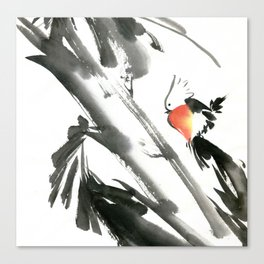 Bird2- Chinese Shui-mo (水墨) Canvas Print