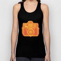 I Still Shoot Film Holga Logo - Yellow & Red Unisex Tank Top