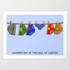 Laundry Day at the Hall of Justice Art Print