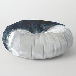 Blue Sea Floor Pillow