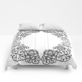 Abstract floral frame Comforters