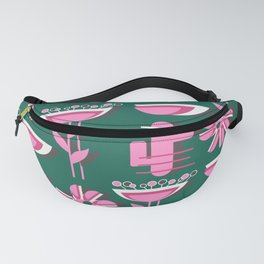 Pink flowers and cacti Fanny Pack