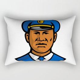 African American Policeman Mascot Rectangular Pillow