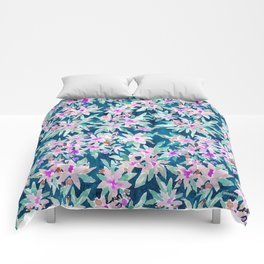 LET GO Tropical Watercolor Floral Comforters