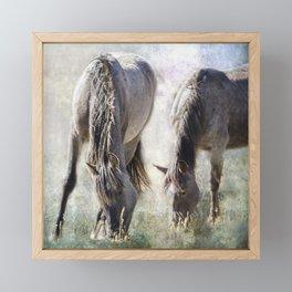 Grazing on Light and Freedom Framed Mini Art Print