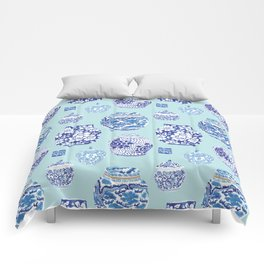 Chinoiserie Ginger Jar Collection No.3 Comforters