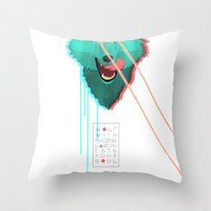 Wolf With F**king lasers Throw Pillow