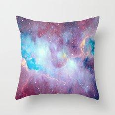 Quartz & Turquoise Galaxy Throw Pillow