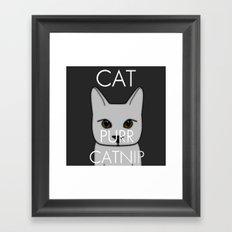 Cat Purr Catnip Framed Art Print