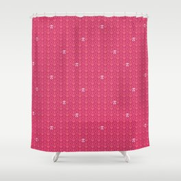 Hugs, Kisses, Love, and Pi - Pink  Shower Curtain