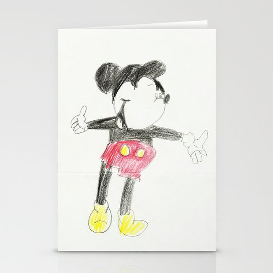 Childhood Drawings (Mickey) Stationery Cards