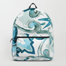 Light Blues & Greens Talavera Backpack