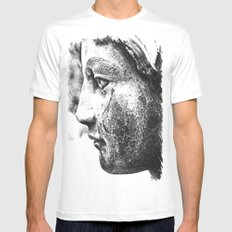 Angel's profile MEDIUM White Mens Fitted Tee